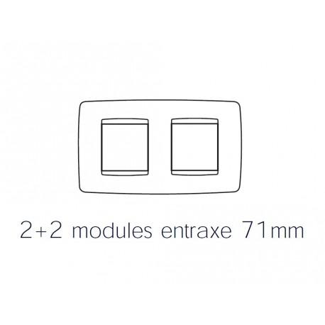 Plaque one 4m 2+2 horizontal ardoise Gewiss chorus