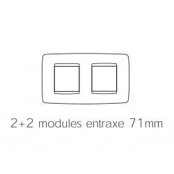 Plaque one 4m 2+2 horizontal blanc creme Gewiss chorus