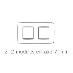 Plaque one 4m 2+2 horizontal noir toner Gewiss chorus