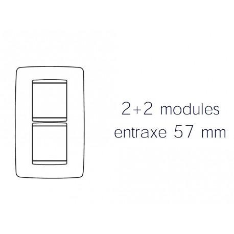 Plaque one 4m 2+2 vertical 57 or Gewiss chorus