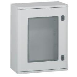 coffret polyester marina ip66 ik10 ral 7035 400x300x206 mm porte vitree