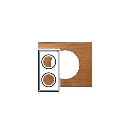 Plaque chene 2 postes Legrand celiane entraxe 71mm