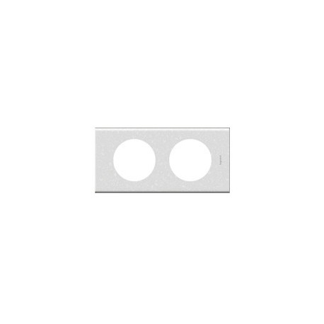 Plaque corian antarctica 2 postes Legrand celiane entraxe 71