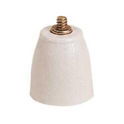 isolateur porcelaine nu recoit bornes 40 et 75 mm