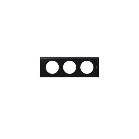 Plaque corian nocturne 3 postes Legrand celiane entraxe 71mm