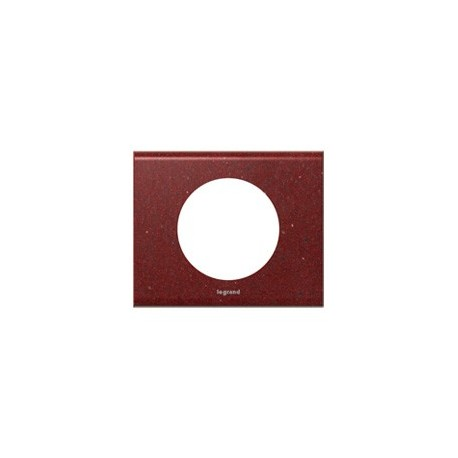 Plaque corian pompeii red Legrand celiane 1 poste avec support