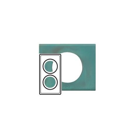 Plaque cuivre oxyde 2 postes Legrand celiane entraxe 57mm