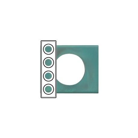 Plaque cuivre oxyde 4 postes Legrand celiane entraxe 71mm