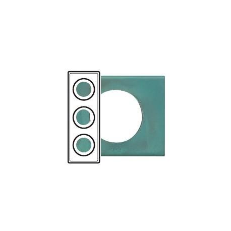 Plaque cuivre oxyde 3 postes Legrand celiane entraxe 71mm