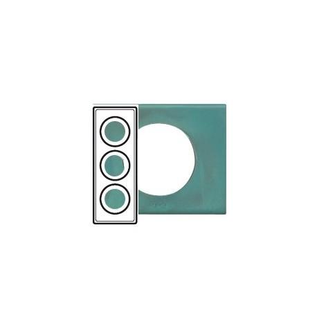 Plaque cuivre oxyde 3 postes Legrand celiane entraxe 57mm