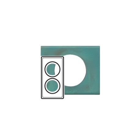 Plaque cuivre oxyde 2 postes Legrand celiane entraxe 71mm
