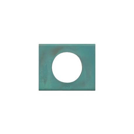Plaque cuivre oxyde Legrand celiane 1 poste avec support