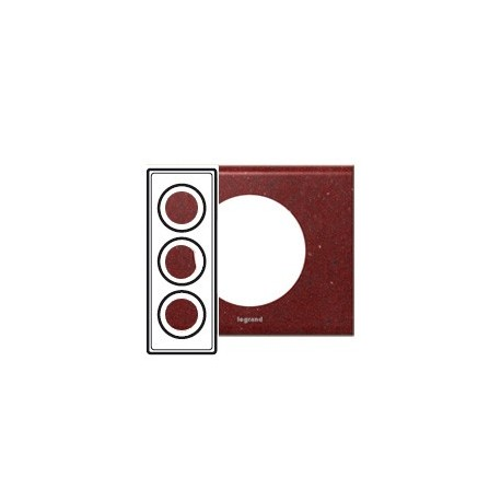 legrand celiane plaque corian pompeii red 3 postes entraxe 57mm. Black Bedroom Furniture Sets. Home Design Ideas