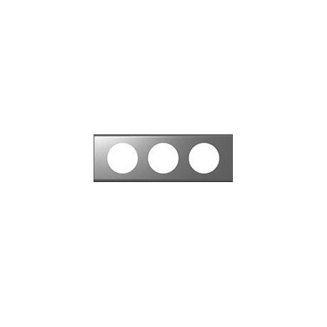 Plaque inox brosse 3 postes Legrand celiane entraxe 71mm