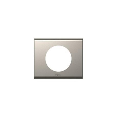 Plaque nickel velours Legrand celiane 1 poste avec support