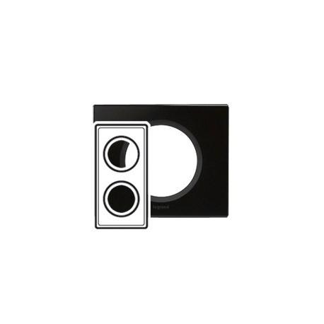 Plaque verre graphite 2 postes Legrand celiane entraxe 71mm
