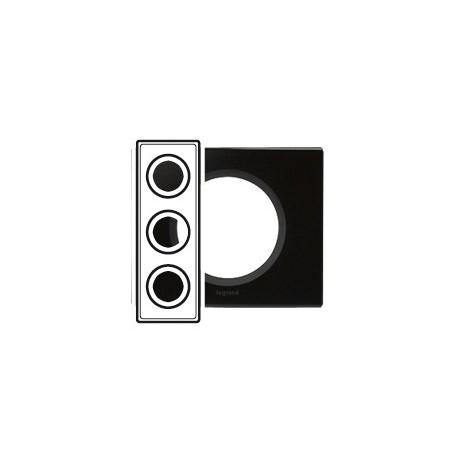 Plaque verre graphite 3 postes Legrand celiane entraxe 71mm