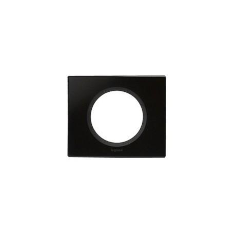 Plaque verre graphite Legrand celiane 1 poste avec support