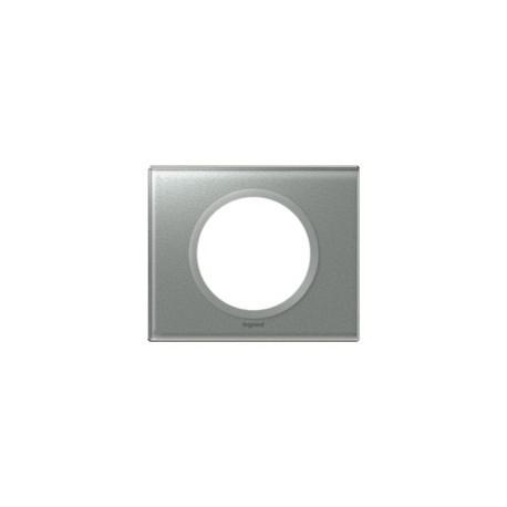Plaque verre titane Legrand celiane 1 poste avec support