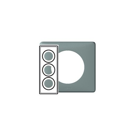 Plaque ciment 3 postes Legrand celiane entraxe 57mm