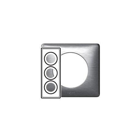 Plaque aluminium 3 postes Legrand celiane entraxe 57mm