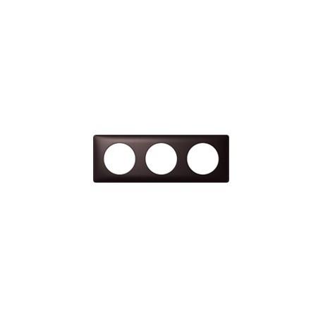 Plaque graphite 3 postes Legrand celiane entraxe 71mm