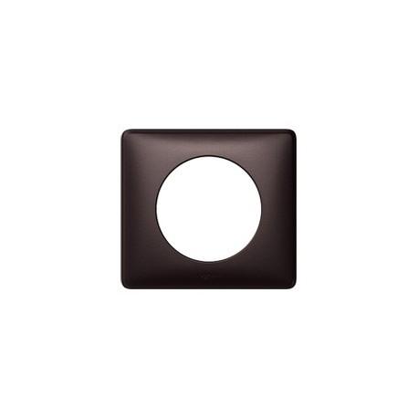 Plaque graphite Legrand celiane 1 poste avec support a vis