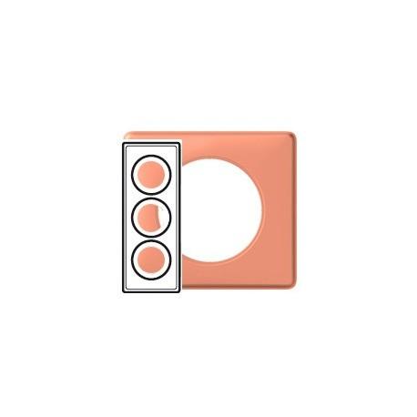 Plaque mirabelle 3 postes Legrand celiane entraxe 57mm