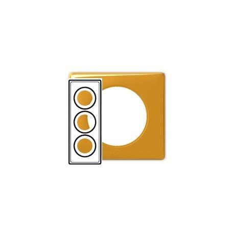 Plaque mandarine 3 postes Legrand celiane entraxe 57mm