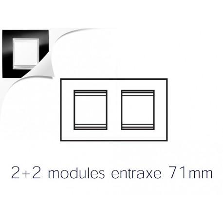 Plaque lux 4m 2+2 horizontal ardoise Gewiss chorus