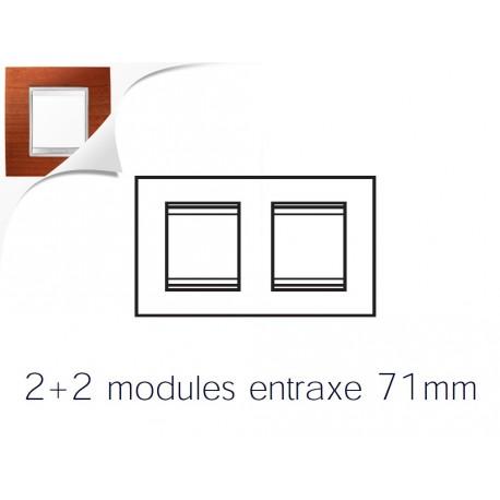 Plaque lux 4m 2+2 horizontal cerisier Gewiss chorus