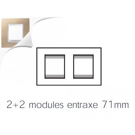 Plaque lux 4m 2+2 horizontal erable Gewiss chorus