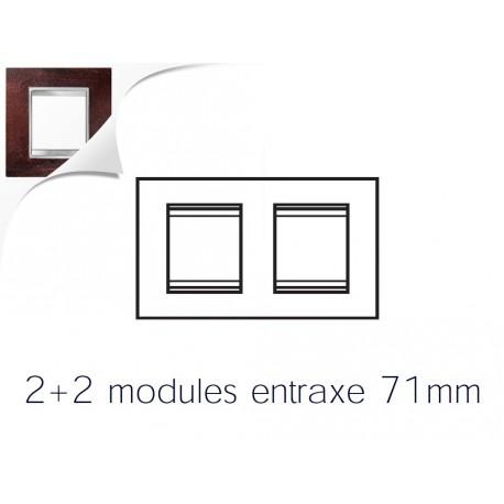 Plaque lux 4m 2+2 horizontal fer oxyde Gewiss chorus