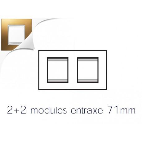 Plaque lux 4m 2+2 horizontal or Gewiss chorus