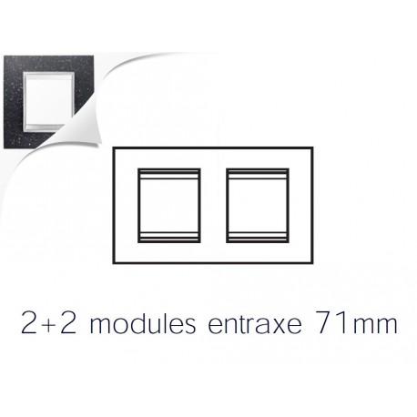 Plaque lux 4m 2+2 horizontal pierre lave Gewiss chorus