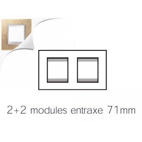 Plaque lux 4m 2+2 horizontal pierre sable Gewiss chorus
