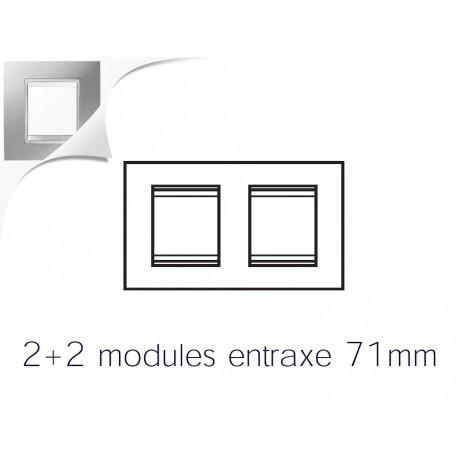 Plaque lux 4m 2+2 horizontal titane Gewiss chorus