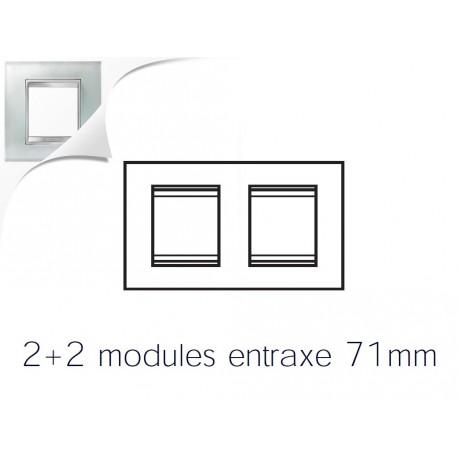 Plaque lux 4m 2+2 horizontal verre glace Gewiss chorus