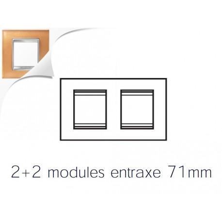 Plaque lux 4m 2+2 horizontal verre ocre Gewiss chorus