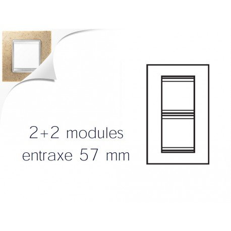Plaque lux 4m 2+2 ve57 pierre sable Gewiss chorus