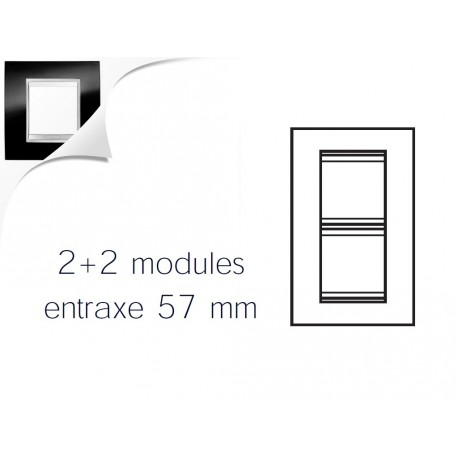 Plaque lux 4m 2+2 vertical 57 ardoise Gewiss chorus