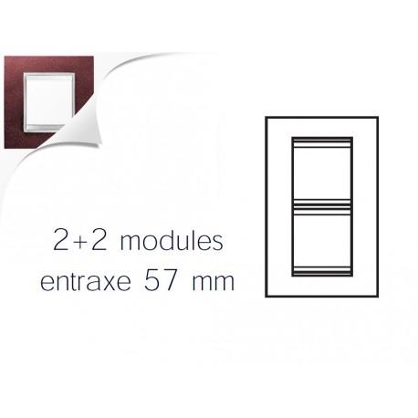 Plaque lux 4m 2+2 vertical 57 cuir rubis Gewiss chorus