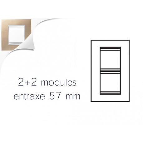 Plaque lux 4m 2+2 vertical 57 erable Gewiss chorus