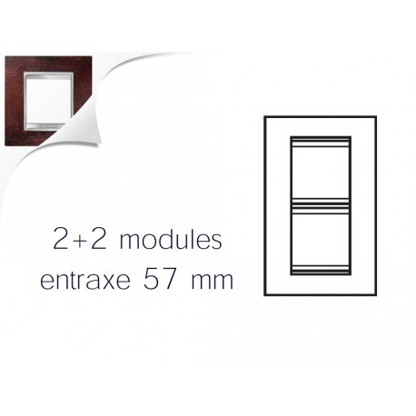 Plaque lux 4m 2+2 vertical 57 fer oxyde Gewiss chorus