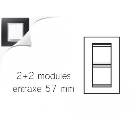 Plaque lux 4m 2+2 vertical 57 noir toner Gewiss chorus