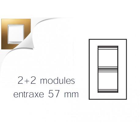 Plaque lux 4m 2+2 vertical 57 or Gewiss chorus
