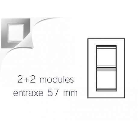 Plaque lux 4m 2+2 vertical 57 titane Gewiss chorus