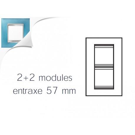 Plaque lux 4m 2+2 vertical 57 verre aigue marine Gewiss chorus