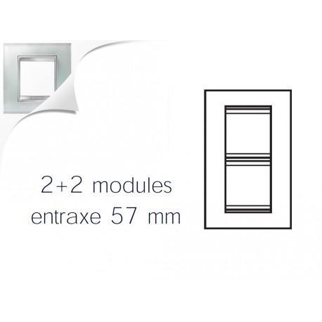 Plaque lux 4m 2+2 vertical 57 verre glace Gewiss chorus