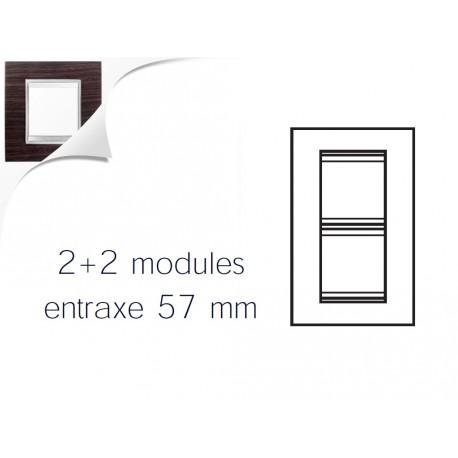 Plaque lux 4m 2+2 vertical 57 wengue Gewiss chorus